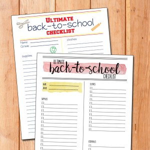 Printable ultimate back-to-school checklist
