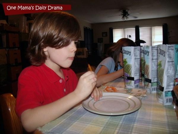 Harvest Snaps taste tested by kids