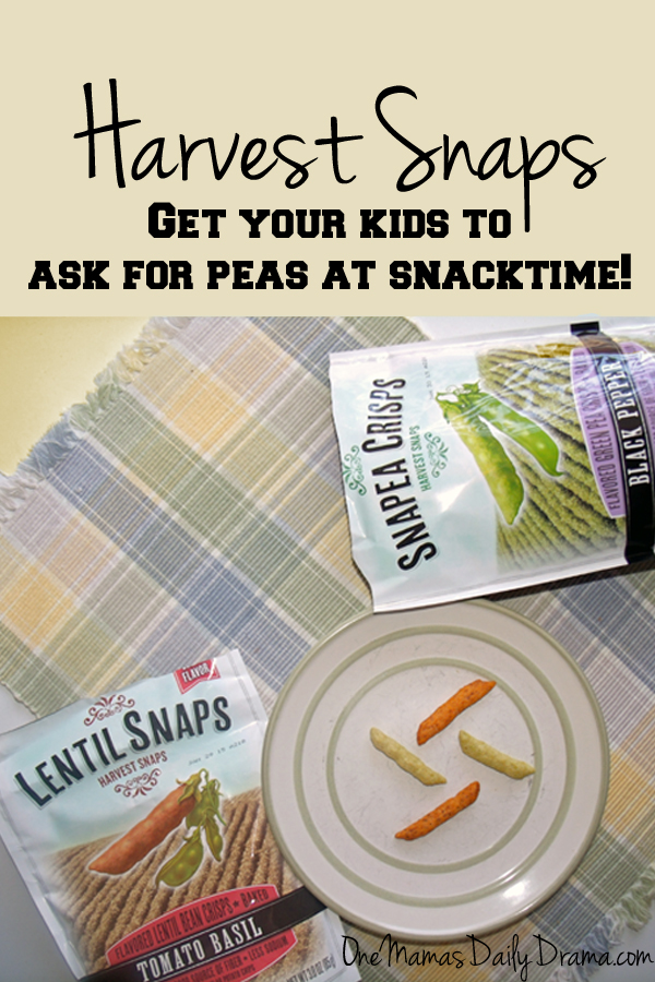 Harvest Snaps are a tasty and healthy snack for kids and adults! Read my review at One Mama's Daily Drama