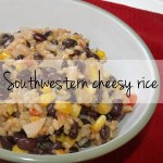 Southwestern cheesy rice recipe