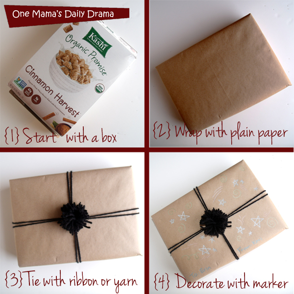 One crazy gift wrap idea for creative present wrapping | One Mama's Daily Drama