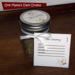 Spice blend gift basket + printables