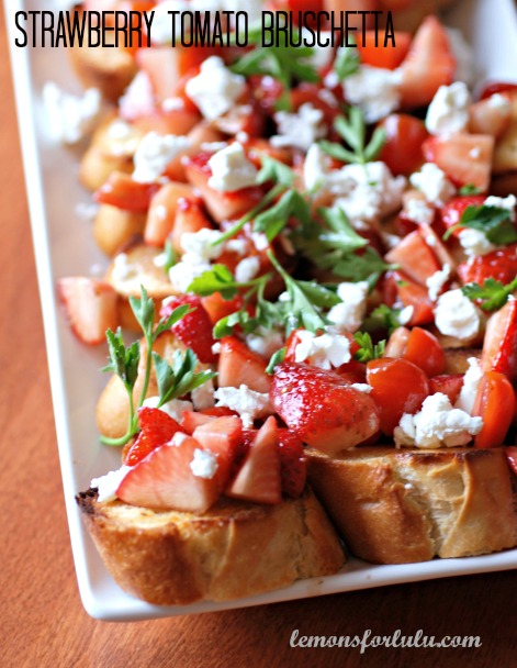 Strawberry Tomato Bruschetta | Lemons for Lulu