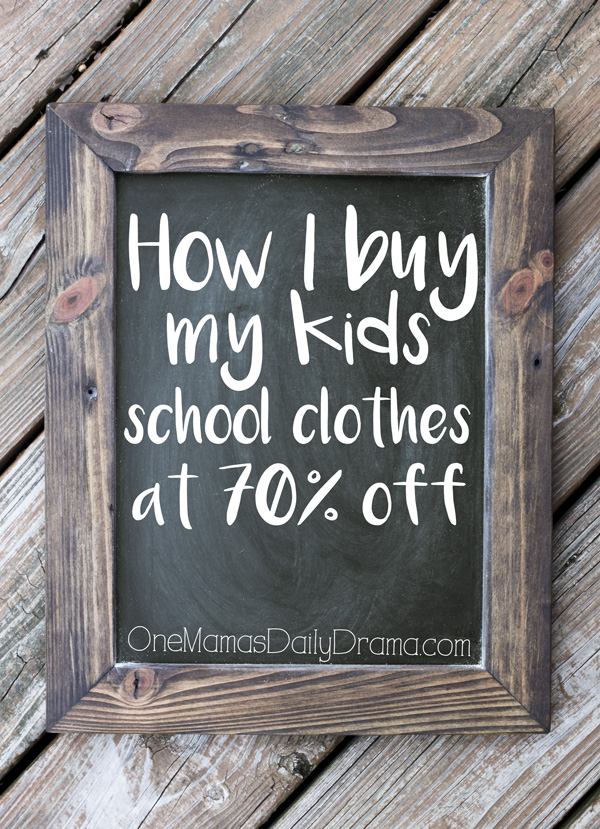 How I buy my kids school clothes at 70% off | Plus a bonus discount code