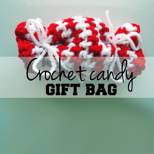 Crochet candy gift bag