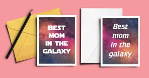 geeky Mother's Day card for Star Wars and Star Trek moms