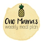 Menu plan: Sept 25 – Oct 1