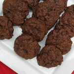 Triple chocolate dark side cookies
