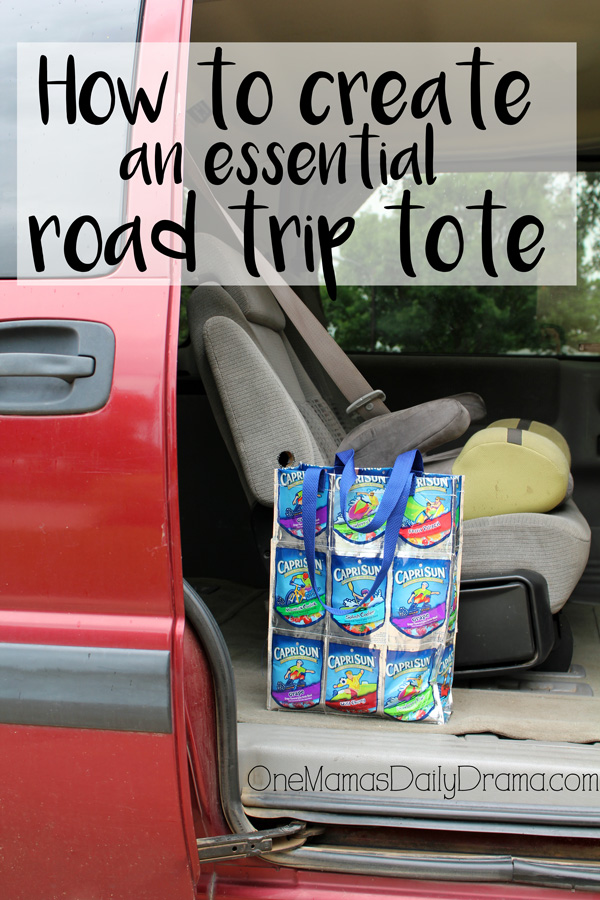 How to create an essential road trip tote from OneMamasDailyDrama.com