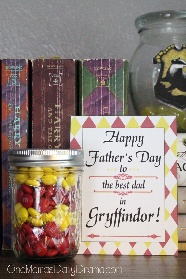Gryffindor Father's Day printable