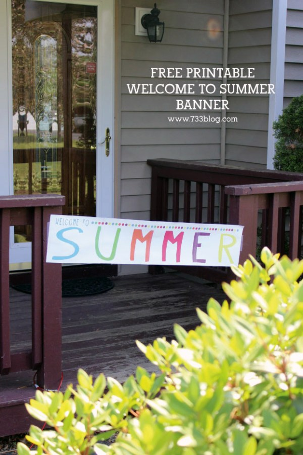 Printable welcome to summer banner