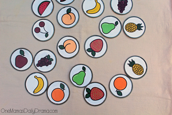 Printable fruit memory game