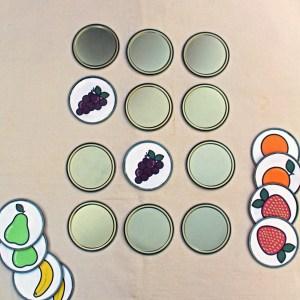 Printable fruit memory game + DiY tutorial