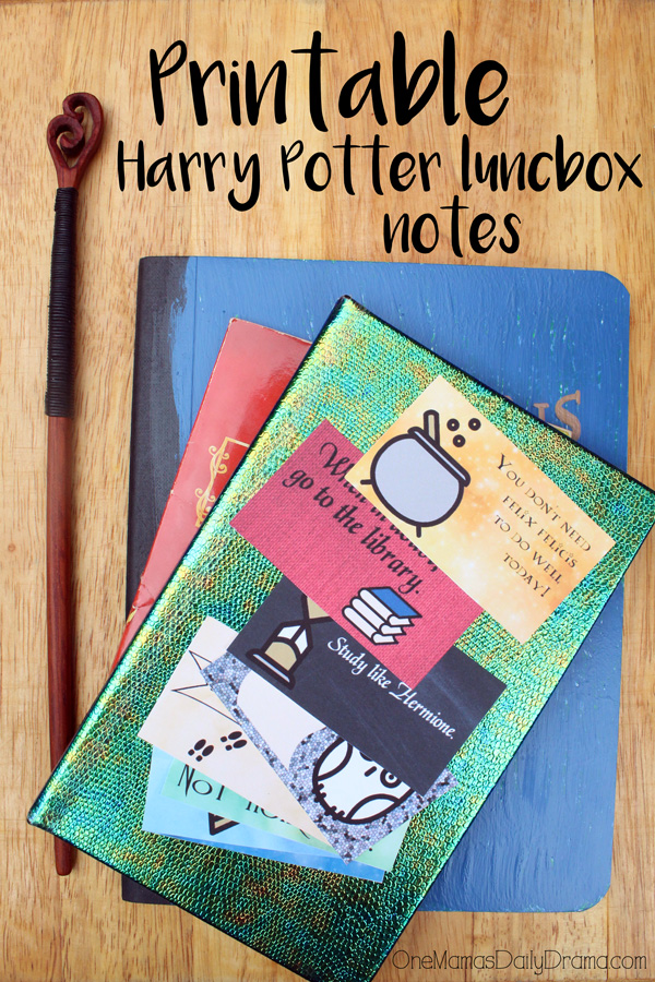 Printable Harry Potter lunchbox notes for back to school