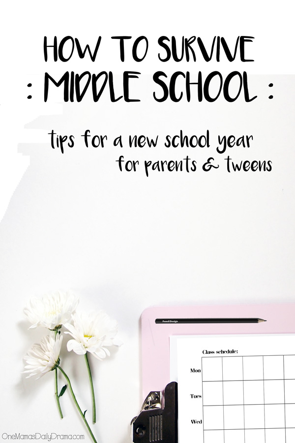 How to survive middle school: 9 tips for a new school year for parents and tweens/teens