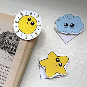 Kawaii corner bookmarks printable + tutorial