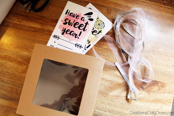 Sweet school year treat box + printable card: cutting out materials