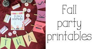 Fall party printables pack: alphabet banner, tent cards, party circles + invitation | OneMamasDailyDrama.com