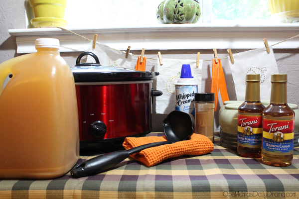 Slow-cooker caramel apple cider | OneMamasDailyDrama.com