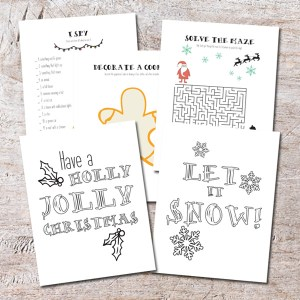 Printable Christmas coloring and activity book