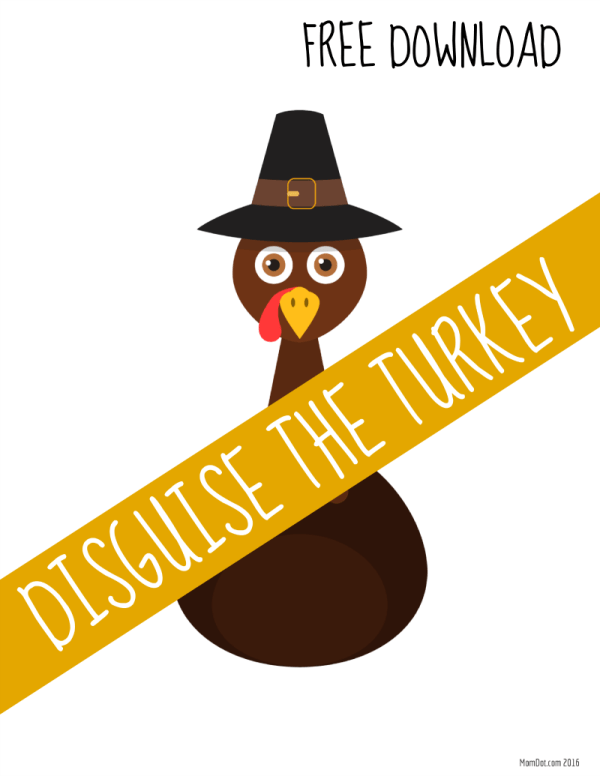 Thanksgiving kids activities   Disguise the turkey game from Mom Dot