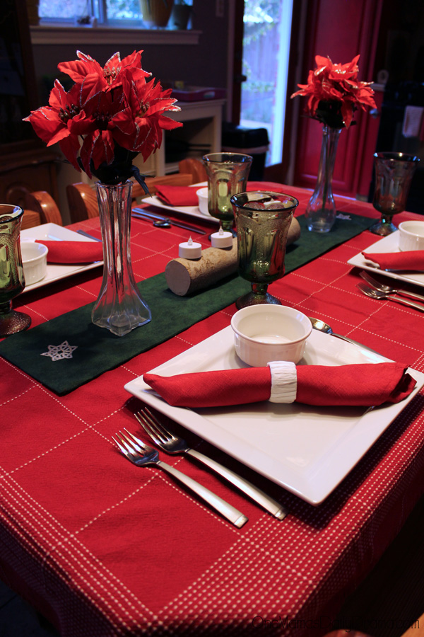 Holiday home decor: simple place setting
