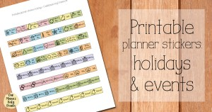 Printable planner stickers for holidays and events