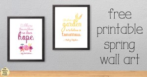 Printable spring wall art quotes {free download}