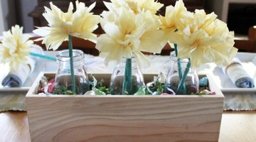 DiY spring tissue paper flowers