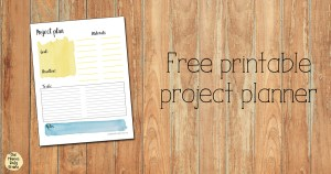 Free printable project planner worksheet for home, office, garden, craft, etc.