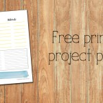 Free printable project planner