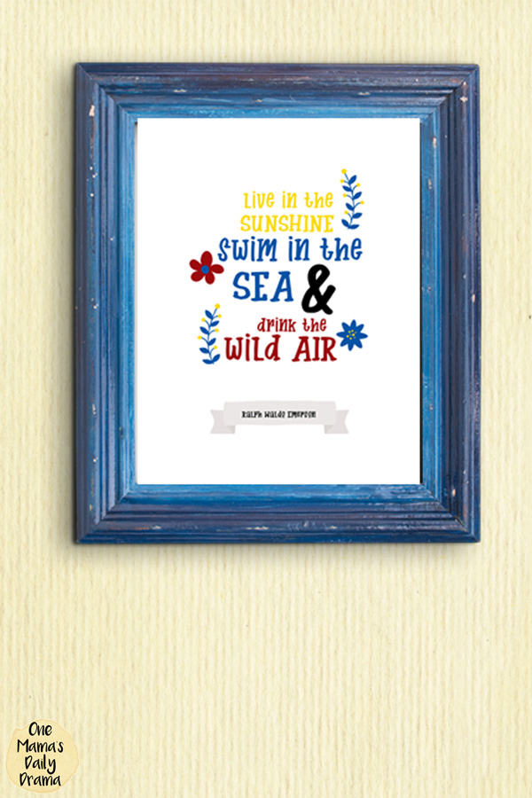 Exceptionnel Ralph Waldo Emerson Printable Summer Art Quote