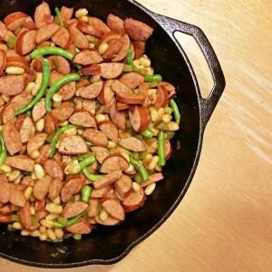 20-minute sausage skillet meal