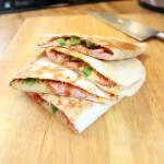 Italian quesadillas with ham and provolone