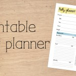 One page printable party planner