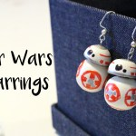 DiY Star Wars BB-8 earrings tutorial