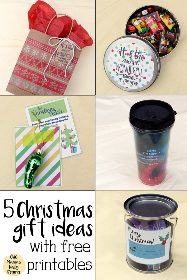 Christmas gift ideas with free printables / One Mama's Daily Drama