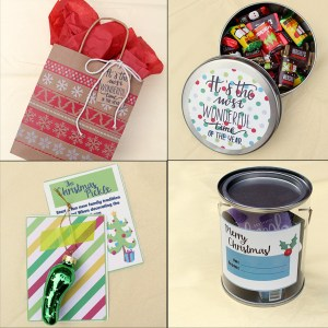 5 Christmas gift ideas with free printables