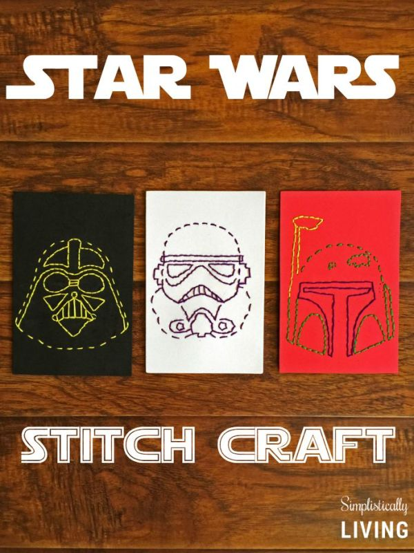Star Wars stitch craft from Simplistically Living