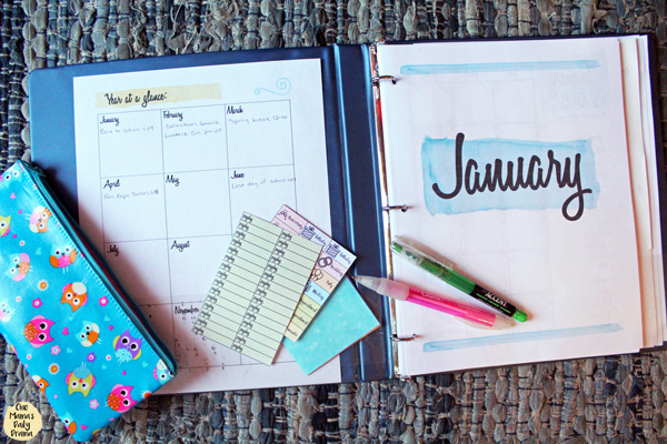 Planner tip: gather all your calendars, holiday stickers, etc. and plan out the whole year in one sitting.