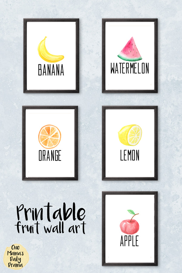 Printable fruit wall art / Keri Houchin Design