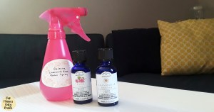 Relaxing essential oils room spray