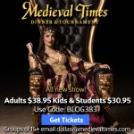 Medieval Times discount for spring break