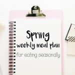 Spring weekly meal plan for eating seasonally
