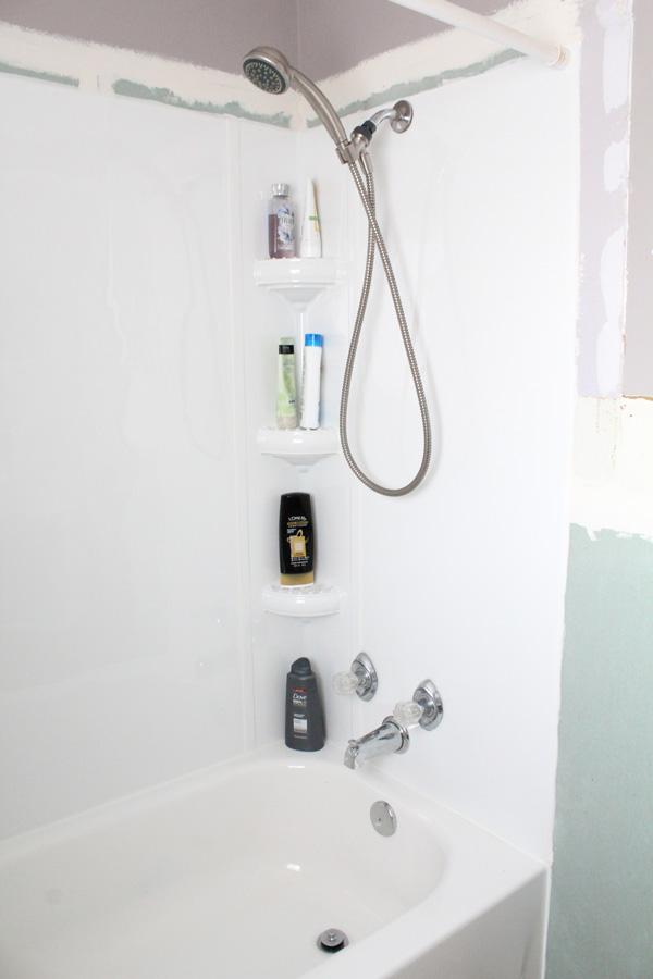 finished bathtub surround right
