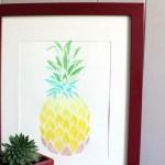 Pineapple stencil wall art tutorial