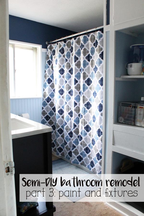 Semi-DiY bathroom remodel part 3: paint and fixtures