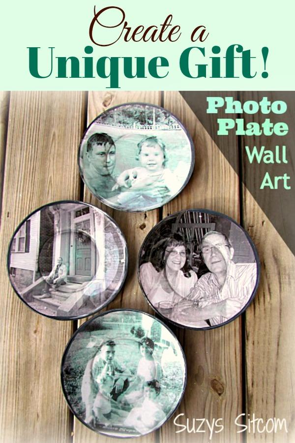 Personalized photo plates handmade gift idea