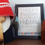 Christmas gnome printable wall art