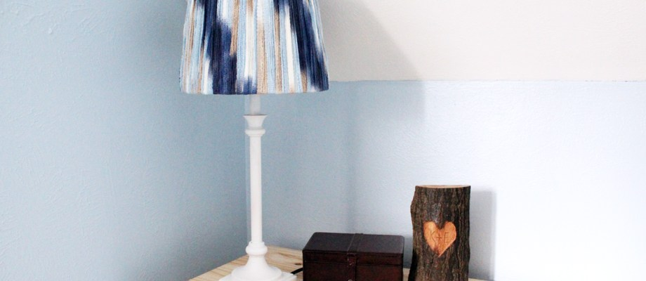 Quick thrift store lamp makeover
